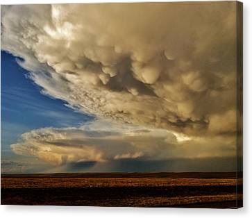 Canvas Print featuring the photograph Colorado Supercells by Ed Sweeney