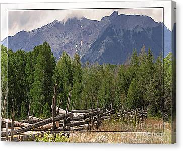 Colorado Wilson Peak Clouds Canvas Print