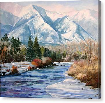 Colorado Winter On The Arkansas River Canvas Print by Frederick Hubicki