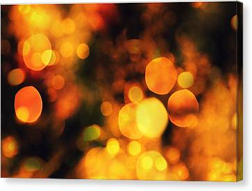 Canvas Print featuring the digital art Coloured Bokeh Lights by Fine Art By Andrew David