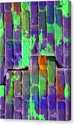 Colored Brick And Mortar 4 Canvas Print by Lynda Lehmann