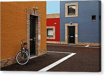 Colored Facades Canvas Print