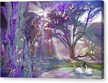 Colored Forest Canvas Print by Alixandra Mullins