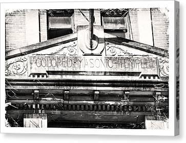Canvas Print featuring the photograph Colored Masonic Temple by Davina Washington