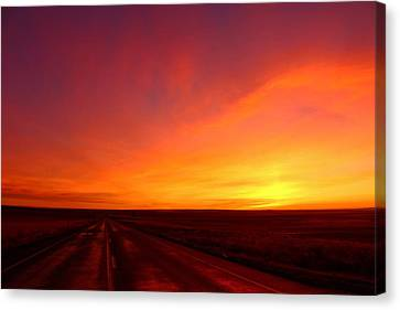 Canvas Print featuring the photograph Colored Morning by Lynn Hopwood