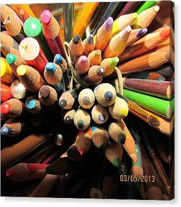 Colored Pencils Canvas Print by Jaime Neo