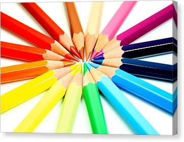 Colored Pencils Canvas Print by Michael Tompsett