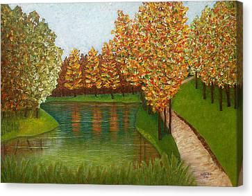 Colored Reflections Canvas Print by Madalena Lobao-Tello