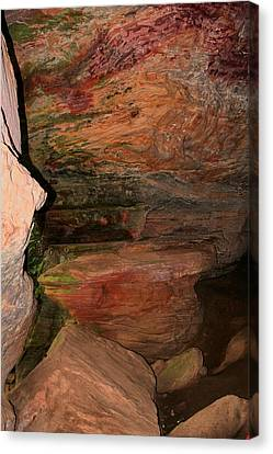 Colored Rock Layers Canvas Print