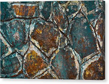 Colored Rock Wall Canvas Print
