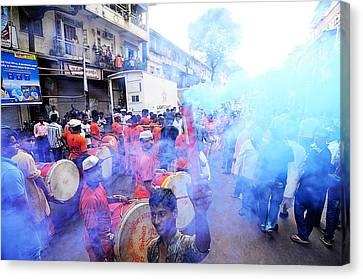 Colored Smoke Canvas Print by Money Sharma