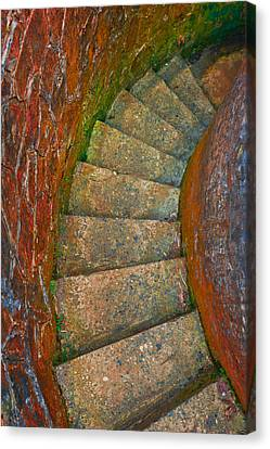 Colored Stairs Canvas Print