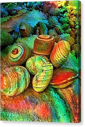 Colored Stones By Rafi Talby   Canvas Print by Rafi Talby