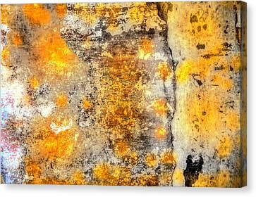 Metallic Sheets Canvas Print - Colored Weathered Wall by Martin Joyful