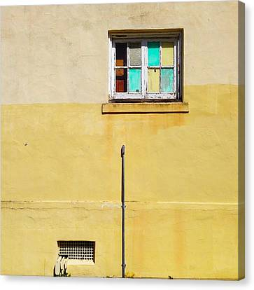 Colored Window Canvas Print by Julie Gebhardt