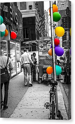 Colored With Balloons Canvas Print