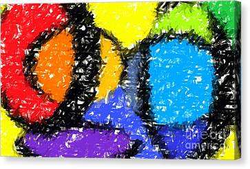Colorful Abstract 3 Canvas Print by Chris Butler