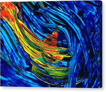 Colorful Abstract Art - Energy Flow 3 - By Sharon Cummings Canvas Print by Sharon Cummings