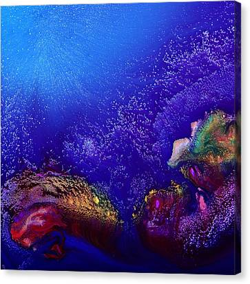Colorful Abstract Art-vivid Fluid Painting Life Below By Kredart Canvas Print