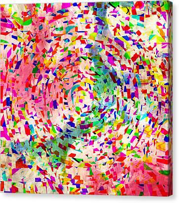 Colorful Abstract Circles Canvas Print by Susan Leggett