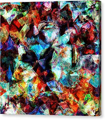 Canvas Print featuring the digital art Colorful Abstract Design by Phil Perkins