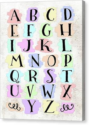 Colorful Alphabet Canvas Print