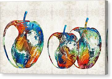 Colorful Apples By Sharon Cummings Canvas Print by Sharon Cummings