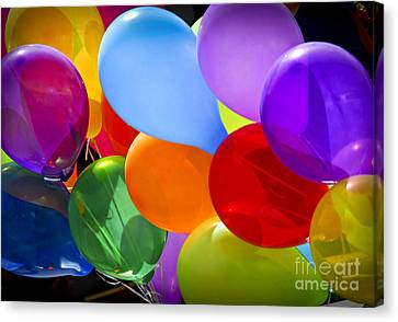 Colorful Balloons Canvas Print by Elena Elisseeva