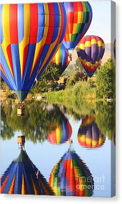 Colorful Balloons Fill The Frame Canvas Print by Carol Groenen