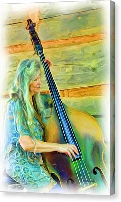 Colorful Bass Fiddle Canvas Print by Kenny Francis