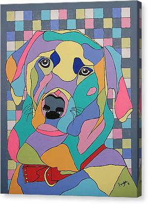 Colorful Bear Canvas Print by Inge Lewis