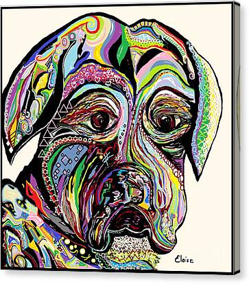 Colorful Boxer Canvas Print by Eloise Schneider