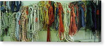 Braids Canvas Print - Colorful Braided Ropes For Sailing by Panoramic Images