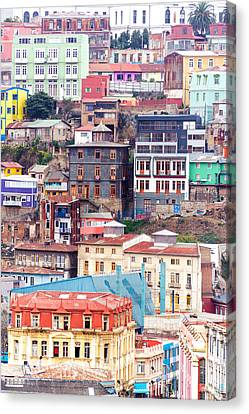 Colorful Buildings On A Hill Canvas Print by Jess Kraft