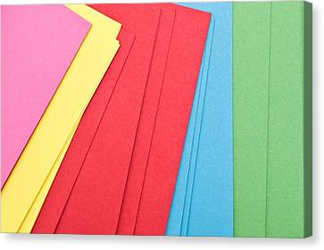 Colorful Cards Canvas Print by Tom Gowanlock