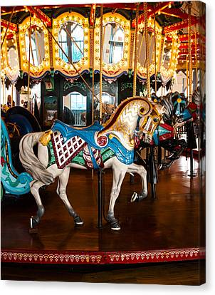 Canvas Print featuring the photograph Colorful Carousel Horse by Jerry Cowart
