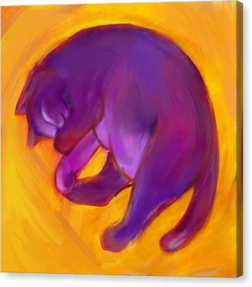 Colorful Cat 5 Canvas Print by Anna Gora