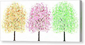 Colorful Cherry Blossoms Canvas Print