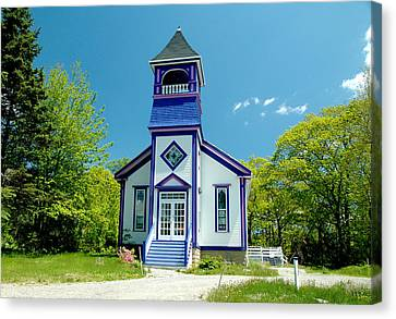 Colorful Church Canvas Print by Cathy Kovarik