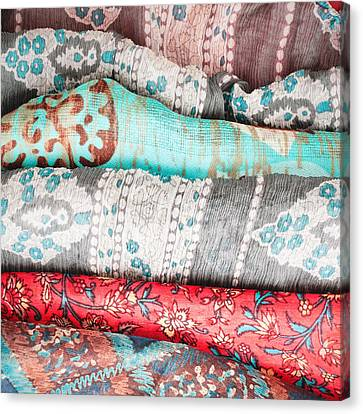 Colorful Cloths Canvas Print by Tom Gowanlock