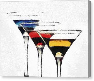 Colorful Cocktails Canvas Print