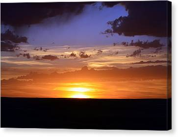 Colorful Colorado Sunset Canvas Print by Clarice  Lakota
