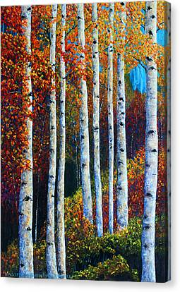 Colorful Colordo Aspens Canvas Print