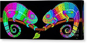 Colorful Companions Canvas Print by Nick Gustafson