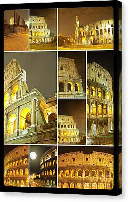 Colorful Composition Made Of Colosseo Canvas Print by Stefano Senise