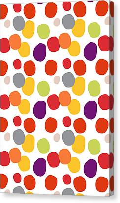Colorful Confetti  Canvas Print by Linda Woods