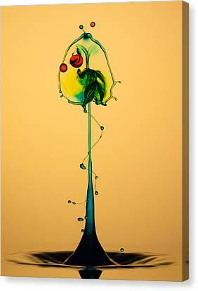 Colorful Collision Canvas Print by Jaroslaw Blaminsky