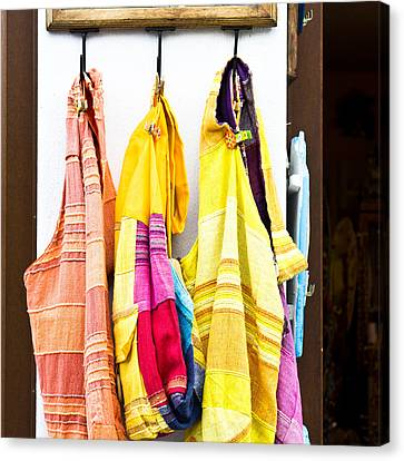 Colorful Cotton Bags Canvas Print by Tom Gowanlock