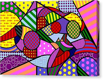 Colorful Couple 1 V-1 Canvas Print