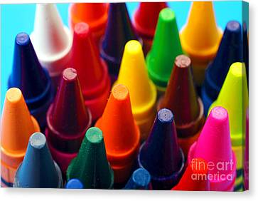 Colorful Crayons Closeup Canvas Print by Danny Hooks